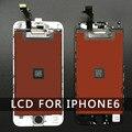 10 pc/lot lcd pantalla de repuesto para iphone 6 4.7 inch parte con pantalla táctil digitalizador asamblea blanco y negro en stock