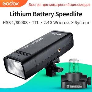 Image 1 - GODOX AD200 200Ws TTL 2.4G HSS 1/8000s Tasca Luce del Flash Esterno A Doppia Testa con 2900mAh batteria al litio Torcia Elettrica Flash