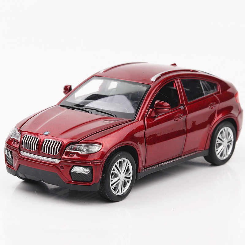 1:32 BMW X6 Child pull-back vehicle simulation alloy car model crafts decoration collection toy tools