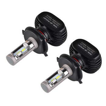 NICECNC S1 H4 High-Low Beam HB2 9003 CSP LED Headlight Bulb 50W 6500K For Arctic CAT ZR 6000 7000 8000 9000 2014 2015