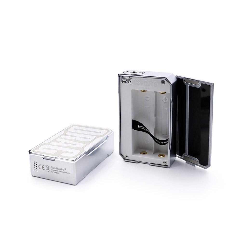 Date D'origine VOOPOO GLISSER 157 W boîte de tc MOD carbone fibre 157 w boîte mod Vaporisateur avec NOUS GÈNE puce contrôle de la température résine Boîte mod - 3