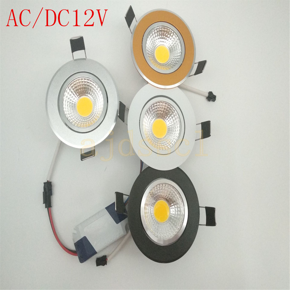 10pcs <font><b>Led</b></font> downlight Super Bright Dimmable light COB DOWN <font><b>Spot</b></font> Light 3w <font><b>5w</b></font> 7w 12w AC/DC12V <font><b>LED</b></font> recessed Lights Indoor Lighting image