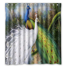 Creative Bath Beautiful Peacock Custom Shower Curtains Fashi