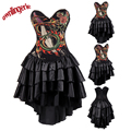 Waist Control Corset Underbust Waist Slimming Sexy Corest black Punk dress with animal Dragon sword design s-2xl W3489