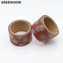 GREENHOW  Beautiful flower washi tape DIY decorative scrapbook planner masking adhesive stationery 9012