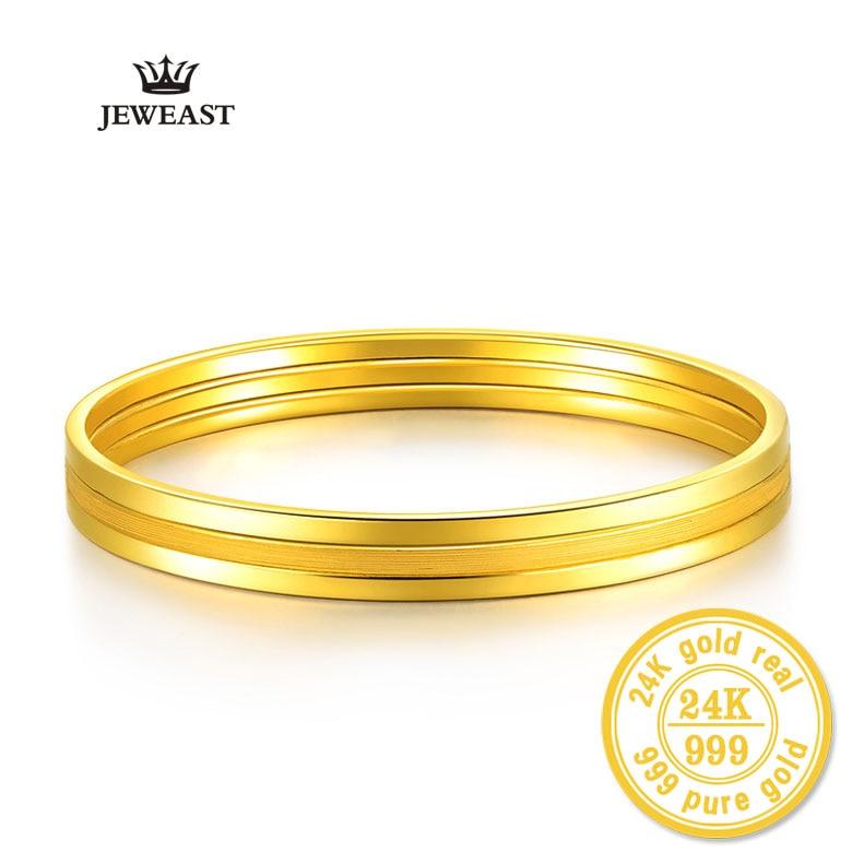 24 k Oro Puro Braccialetto Per Le Donne Femminile Fashion Trendy Smooth Indossato Classico Braccialetto di Lusso Gioielli Hot Solid 999 braccialetti-in Bracciali e braccialetti da Gioielli e accessori su  Gruppo 1