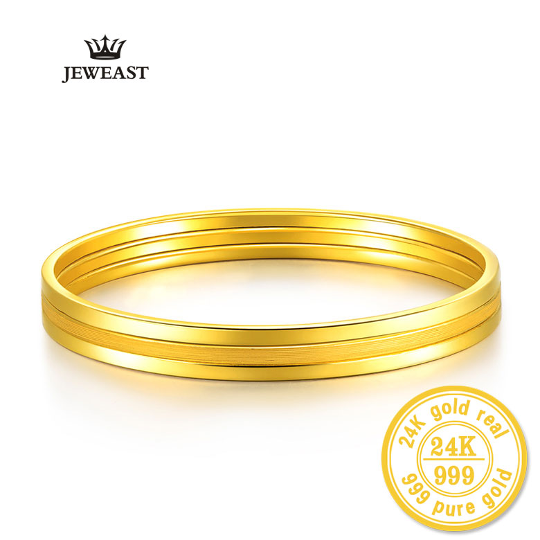 24k Pure Gold Bangle For Women Female Trendy Fashion Smooth Worn Classic Bracelet Upscale Hot Fine Jewelry Solid 999 Bangles24k Pure Gold Bangle For Women Female Trendy Fashion Smooth Worn Classic Bracelet Upscale Hot Fine Jewelry Solid 999 Bangles