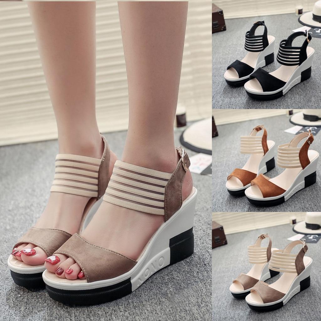 HTB1SMlmaEzrK1RjSspmq6AOdFXad new fashion Wedge women Shoes Casual Belt Buckle High Heel Shoes Fish Mouth Sandals 2019 luxury sandal women buty damskie