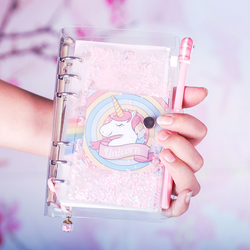 Pink Unicorn Theme Cute A6 Spiral Notebook 19.5*12.5cm DIY Girl Diary 80 SheetsPink Unicorn Theme Cute A6 Spiral Notebook 19.5*12.5cm DIY Girl Diary 80 Sheets
