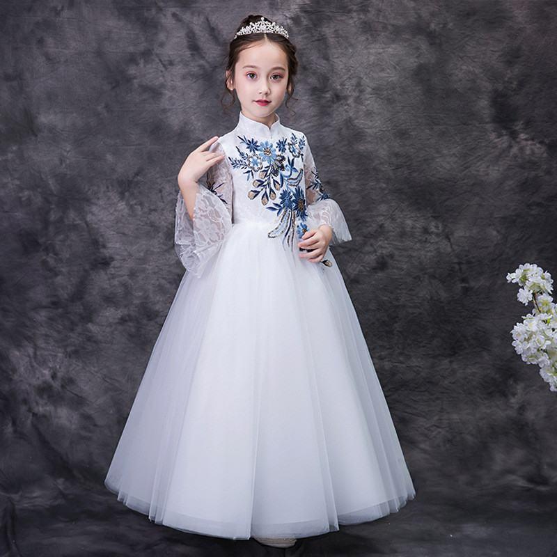 2019 nouvelle mode adolescente broderie Tutu princesse robe enfants robes pour filles de mariage bébé fille vêtements Vestidos F22 - 2