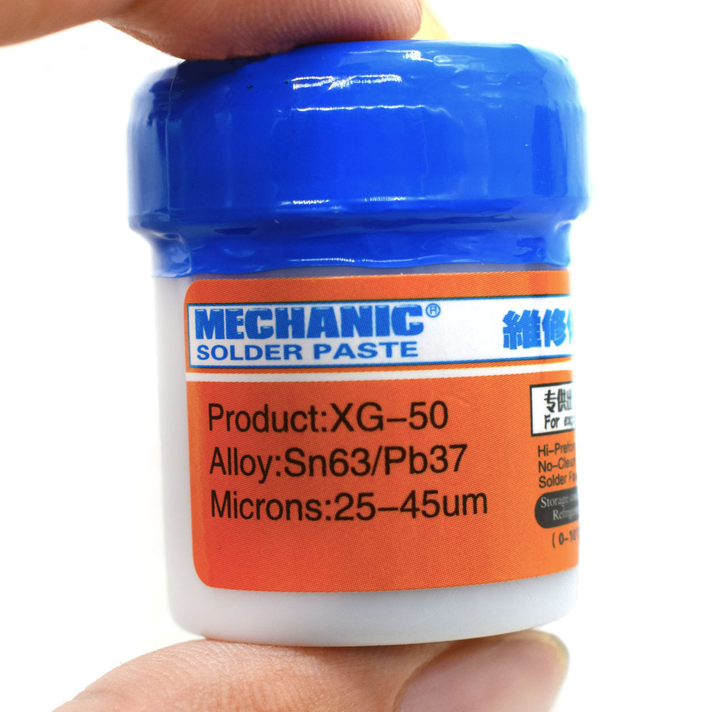 Welding Fluxes New Mechanic Solder Paste XG-50 SMD SMT Sn63/Pb37 Tool Soldering Iron Station Flux Sn63/Pb37 Repair Tool