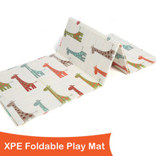 XPE Baby Play Mat Foldable 1CM Thickness Children Floor Mat Kids Rug Living Room Game Pad 200x150x1CM 78X59X0.4IN Baby Blanket(China)