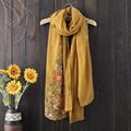 Autumn and winter cotton New Fashion Women Wrap Shawl Scarves Vacation folk-custom shawl Nepalese style embroidery scarf
