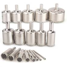 Diamond Drill Bits,18Pcs Diamond Hole Saws Hollow Core Drill Bits Set Remover Tools for Glass,Ceramics,Porcelain,Ceramic Tile,