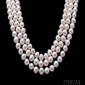 Image 4 - Ожерелье JYX из жемчуга на свитере, длинное круглое ожерелье из натурального пресноводного жемчуга 8 9 мм, ожерелье с бесконечным шармом, распродажа 328