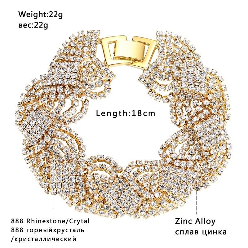 Minmin Mewah Warna Emas Kristal Pernikahan Jewelry Set untuk Wanita - Perhiasan fashion - Foto 5