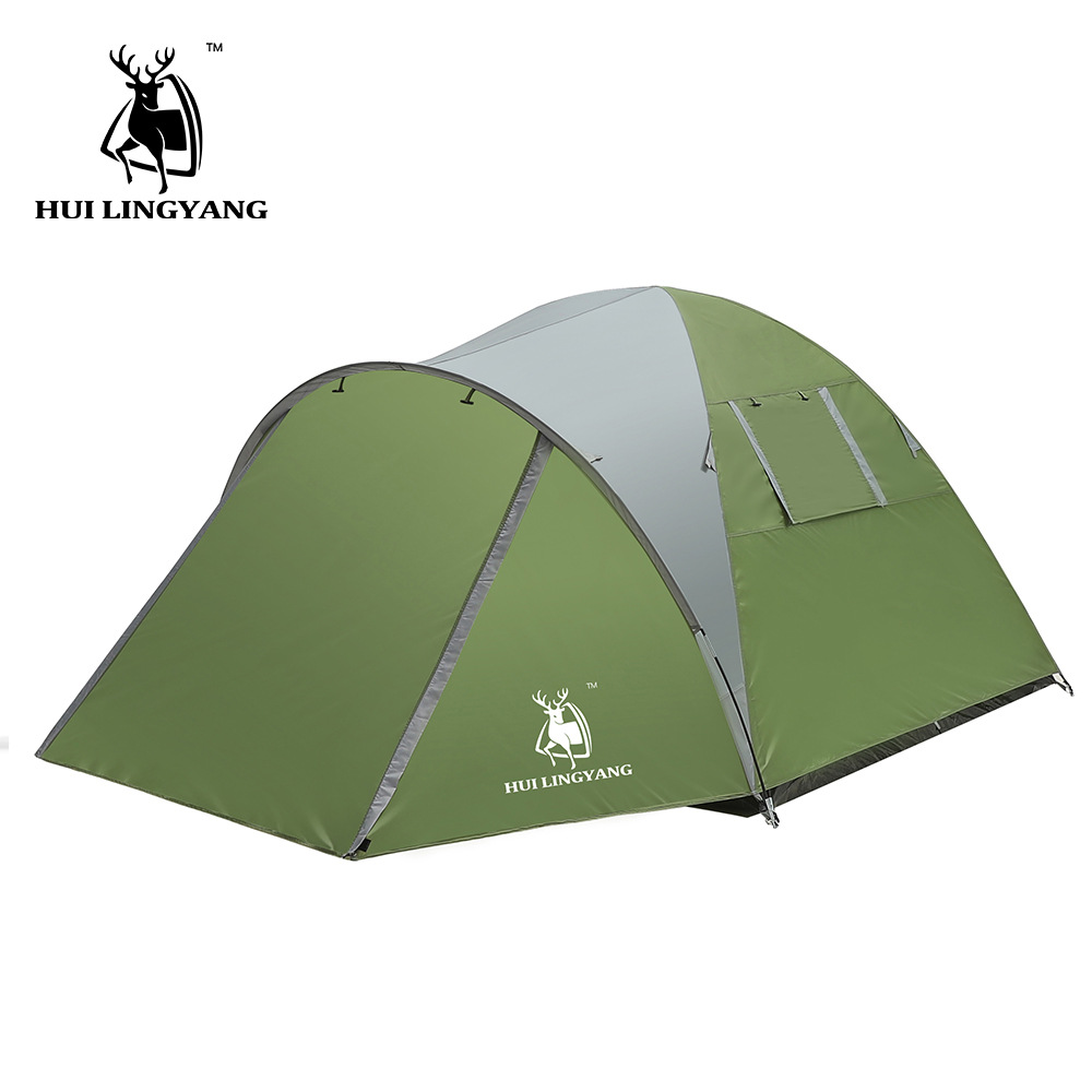 цена на GAZELLE OUTDOOR Camping Tent Large Space 3-4 Persons Double Layer Famliy Tent 190T Polyester Fiber Waterproof Outdoor tent