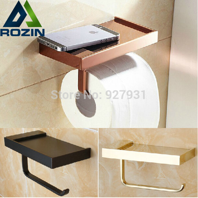 ФОТО Free Shipping Wall Mounted Toilet Paper Rod Solid Brass Bathroom Tissue Holder
