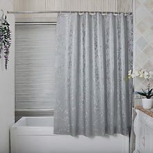 1PC Quick-Drying Bath Shower Curtain Pastoral Gray Flowers Mildew Proof Waterproof PEVA Fabric  New 2016 flowers blossom waterproof bath curtain