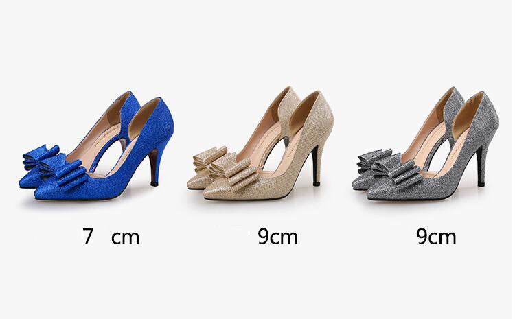 الكعب للنساء الذهب أحذية 5