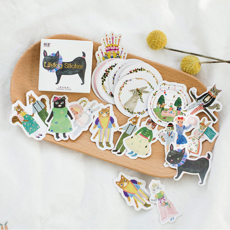 45 pcs/pack forest concert  mini paper stickers Diary decoration DIY scrapbooking label seal Hand account sticker stationery