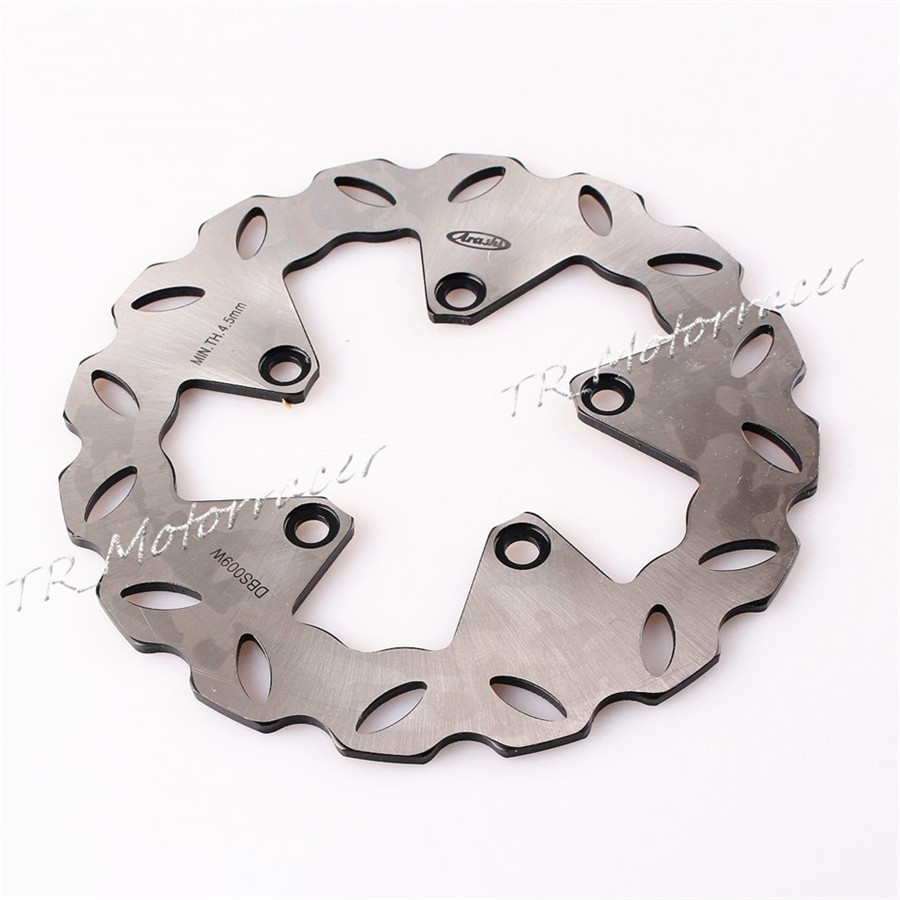 Motorcycle Rear Brake Disc Rotor For Suzuki SV 650 1999-2002 GSXR 1300 Hayabusa 1999-2007 GSX 750 F Katana GSX-R 1100 1989-2000 motorcycle parts 1 pair black stainless steel mechanical motorbike front rear disc brake rotor fit for suzuki gsx r 750 2000 2001 2002 2003 front l r