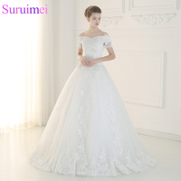 Free Shipping Real Sample Wedding Dresses Of 2017 Floor Length Court Train Sleeveless Lace Up Wedding
