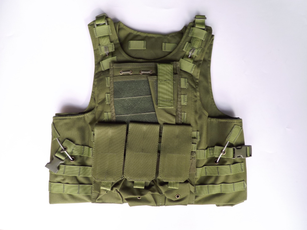Tactical Military SWAT Airsoft Molle Plate Carrier Combat Vest OD Green цены онлайн