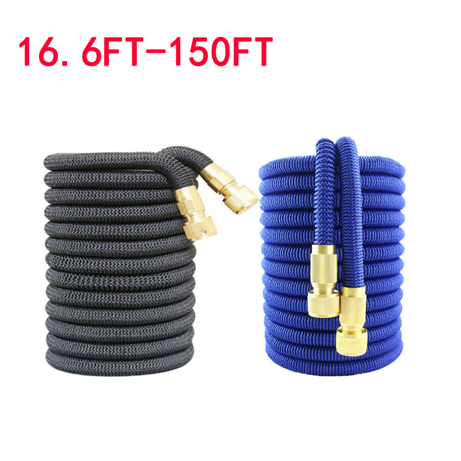 16.6FT-150FT Garden Hose Extensible Magic Watering Hose 5m-45m Fexible Extendable Pipe Hoses Irrigation Bottle For Foam Nozzle