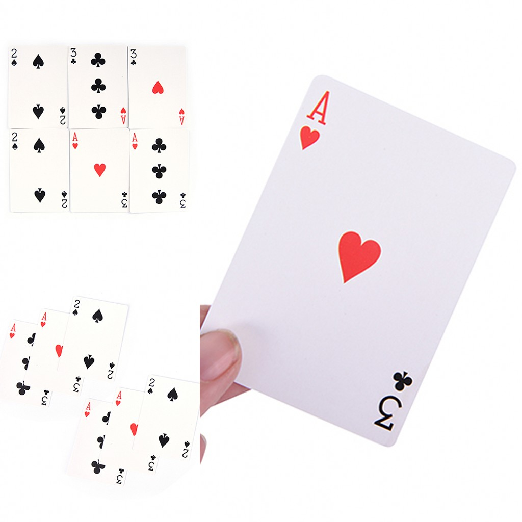 2019 New 2 Sets Magic 3 Three Family Funny Game Card Trick Card Easy Classic Magic Playing Cards