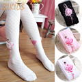 Autumn Baby Girl Cotton Kids Leggings for Girls Pantyhoses Dance Ballet Performance Plaid Lace Pants