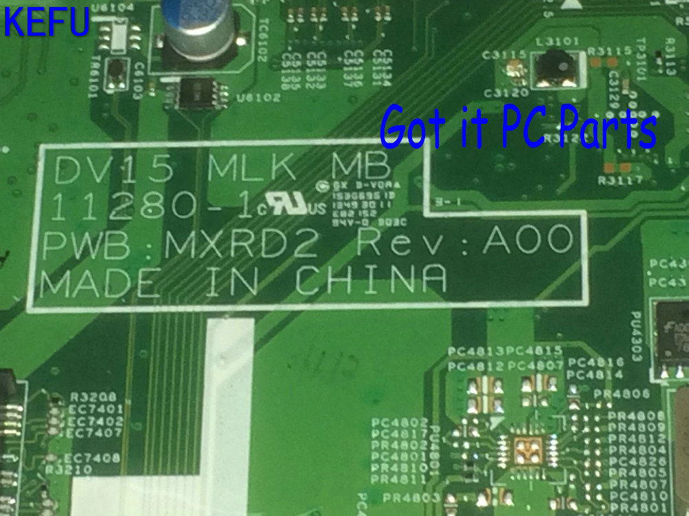 KEFU NEW FREE SHIPPING 0W8N9D DV15 MLK MB MXRD2 REV : A00 MAINBOARD  LAPTOP MOTHERBOARD FOR DELL INSPIRON 3520 NOTEBOOK PC ytai d630 ibq00la 3302p rev 1 0 a00 laptop motherboard independent 2 pieces video memory for dell d630 test and free shipping