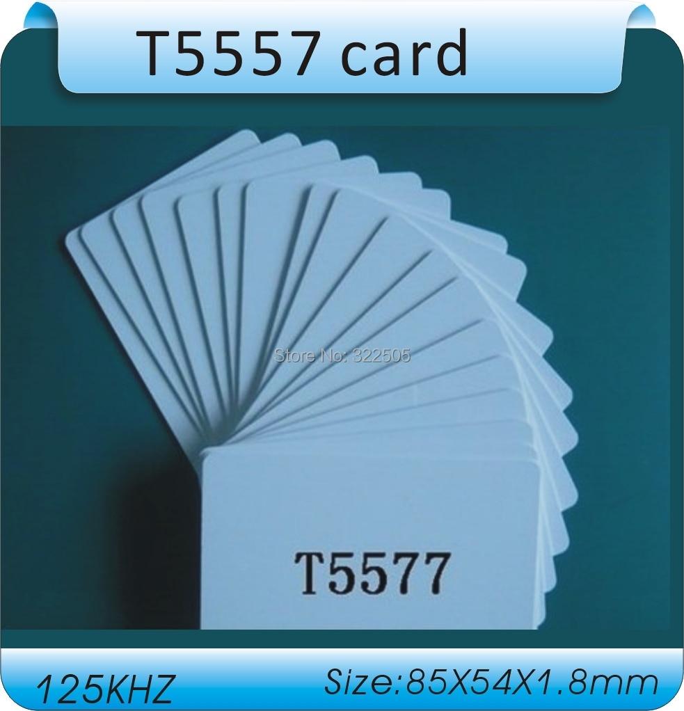 Free shipping+Hot sale 50pcs/lot 125KHZ T5557 / T5567 / T5577 PVC Chip Smart Hotel Card