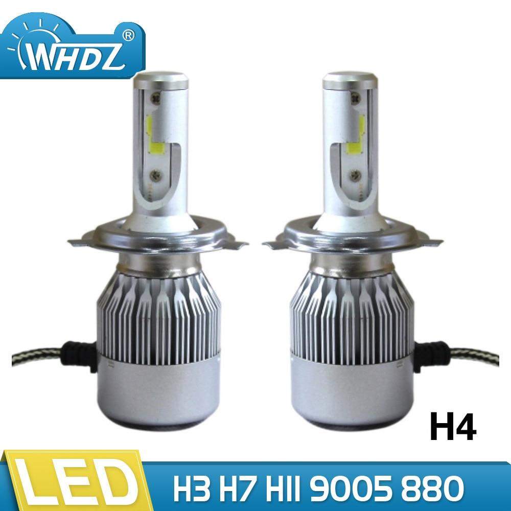 WHDZ H4 LED Headlight Bulb 75W 6500K 8000Lumens Extremely Brigh Hi/Lo Beam with COB Chips Conversion Kit LED Headlight H7 H1 H11