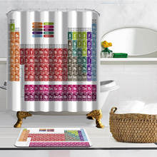 Buy periodic table fabric and get free shipping on aliexpress periodic table customize white curtains waterproof polyester fabric shower curtain for the bath decoration with 12pcs urtaz Gallery