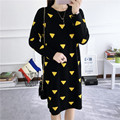 H.SA Fashion Women Dress Autumn Winter Long Sweater Dresses Black O-Neck Long Sleeve Knitted Dress Cute Jumper Sweater dress