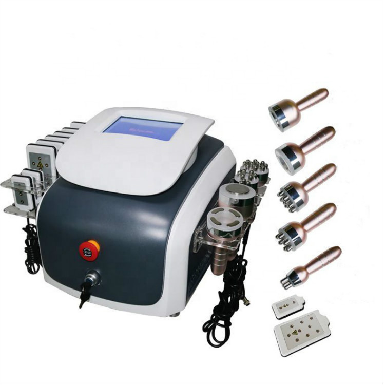 Portable 6 In 1 Cavitation Laser Machine Laser Fat Removal Machine Ultrasonic  Lipolaser Weight Loss Machine