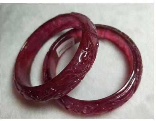 "Certified 100/% Natural purple Jade Bangle Bracelet /""Handmade/"" 54-60mm AAAAA"