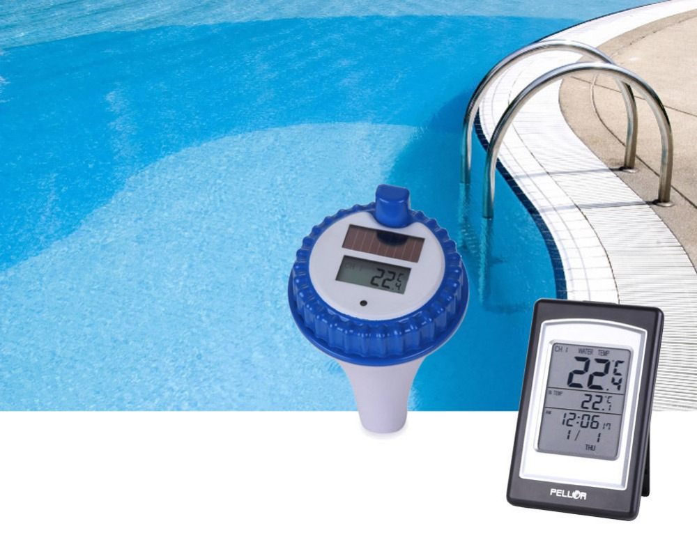Solar Wireless Disply Digital Swimming Pool Thermometer SPA Floating Thermometer