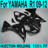 Abs fairings For YAMAHA R1 2009 2010 2011 2012 2013 Fairings ( AXP black ) yzfr1 Injection Fairing kit XP60