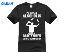 Bartender T-Shirt Im not an alcoholic just a
