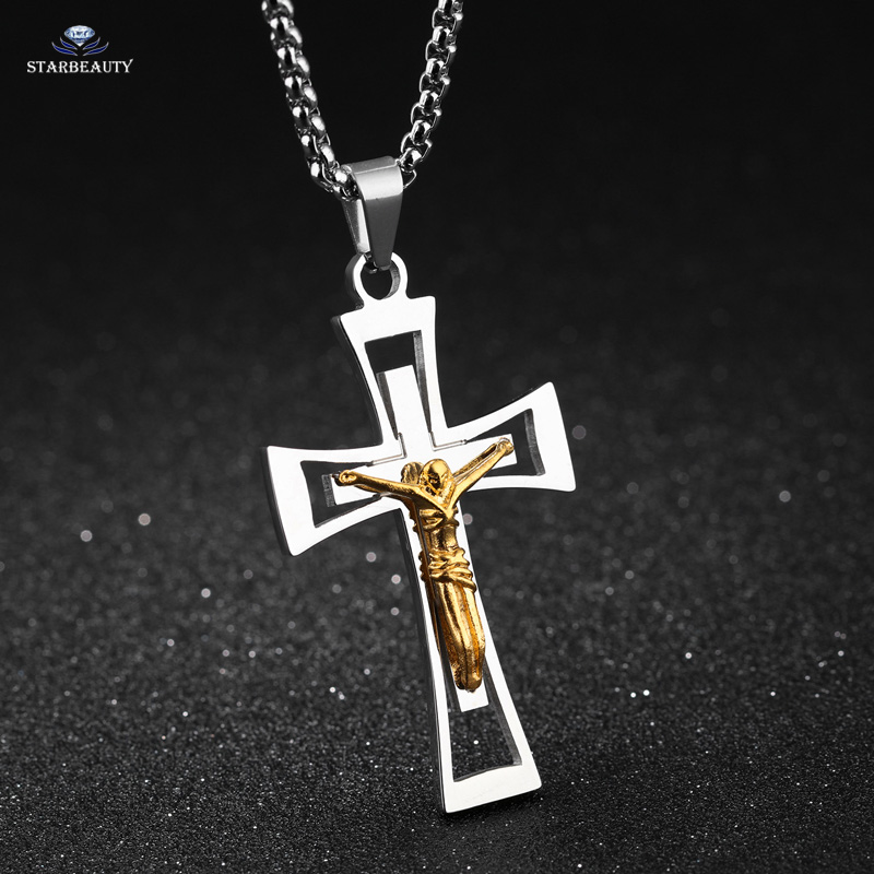 Love jesus cross necklace men long necklace women christian love jesus cross necklace men long necklace women christian necklaces pendants gold color figure neckless jewelry accessory gift in pendant necklaces from aloadofball Image collections