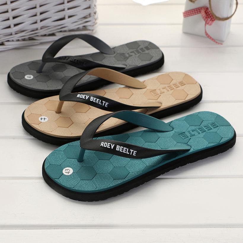 Shoes Sagace Shoes Men 2018 Fashion Suture Flat Summer Sandals Flip Flops Bottom Feet Beach Mens Slippers Apr10 Flip Flops