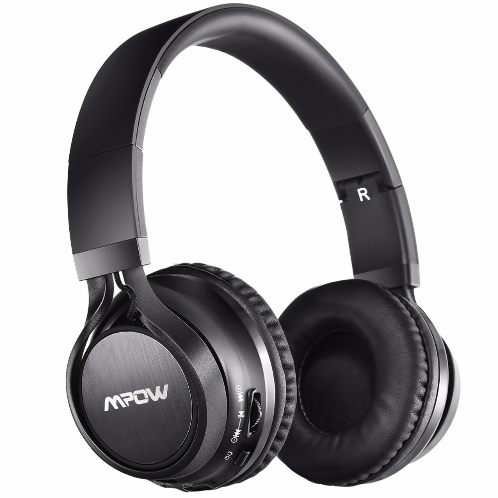 Mpow Thor Bluetooth 4.1 Headphones Foldable Wireless Stereo Music Headset with Soft Protein Ear Pads, Mic, Wireless & Wired Mode foldable on ear wireless stereo bluetooth headphones headset supports fm