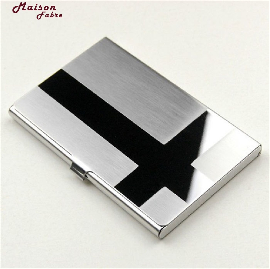 Maison Fabre New Fashion Stainless Steel Silver Aluminium Business ID Credit Card Holder Case Cover