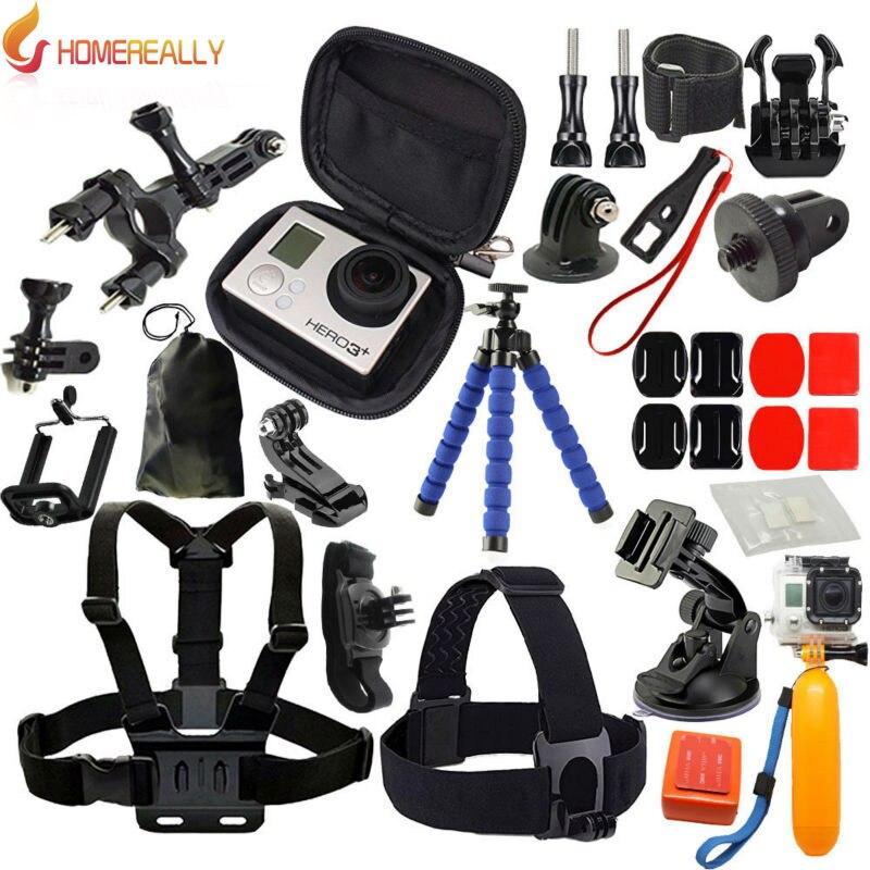 HOMEREALLY caméra accessoire kit bande de tête bande de poitrine pour Gopro Hero 5 4 3 noir édition SJCAM SJ4000 SJ5000 SJ6000 Yi 4 k M10