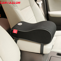 CARTAILOR Polyester Car Seat Supports Universal Vehicle Auto Center Console Arm Rest Cushion Memory Foam Armrests