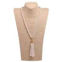 Frauen Perlenkette Natürliche Shell Perle Perlen Pure Colour Grünen Augen Leopard Anhänger Anschlüsse Halskette Großhandel