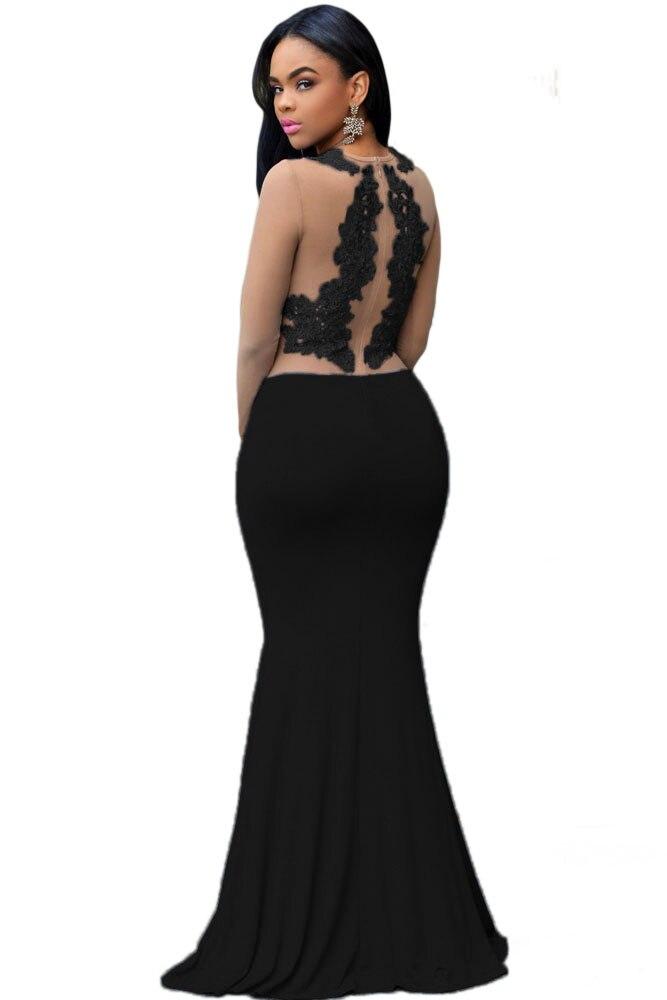 Zkess Claret Nude Mesh Accent Maxi Dress Long Sleeve Vestidos Longo Winter  2017 Party Clubwear Floor Length Robe Female LC60831-in Dresses from  Women s ... 794da69c4467