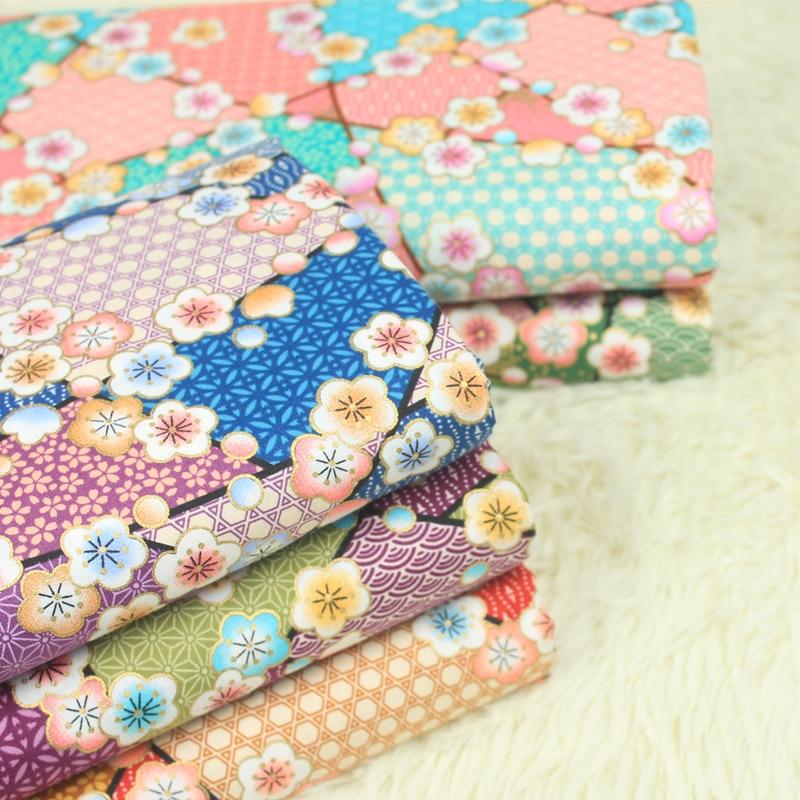 half yard Japanese soft breeze fabric, handmade DIY patchwork mouth gold package cloth 100% cotton garment dress tissue CR-A375